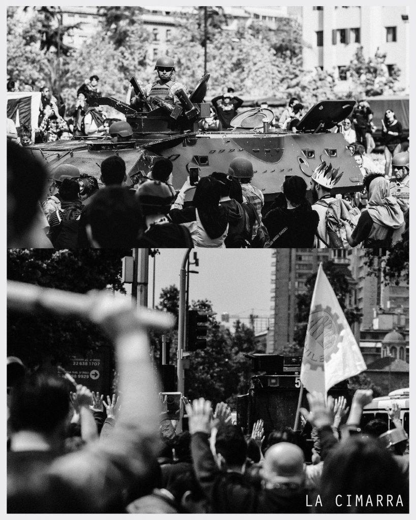 MILITARES EN LAS CALLES DE CHILE DESPERTÓ EN 18 DE OCTUBRE Y POSTERIOS A LA EXPLOSIÓN SOCIAL FOTO DE @BENJASORICH_