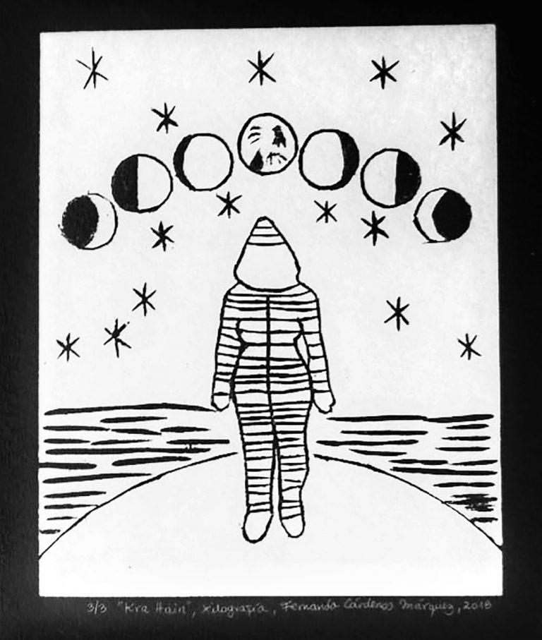 Xilografía y poesía por Fernanda Cárdenas Márquez