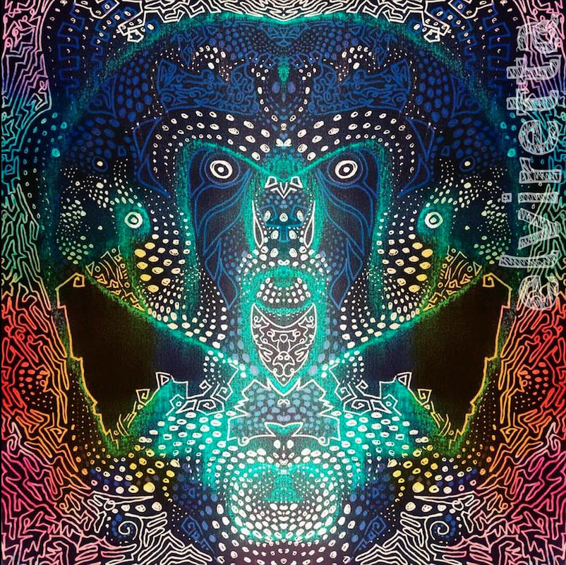 Trabajo psicodélico por Elvira Martinez, trabajo de colores y mistica