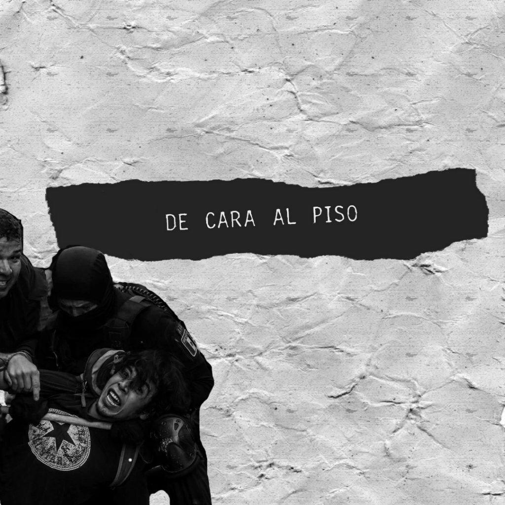 Poesía De cara al piso junto a c/Piño Choroy
