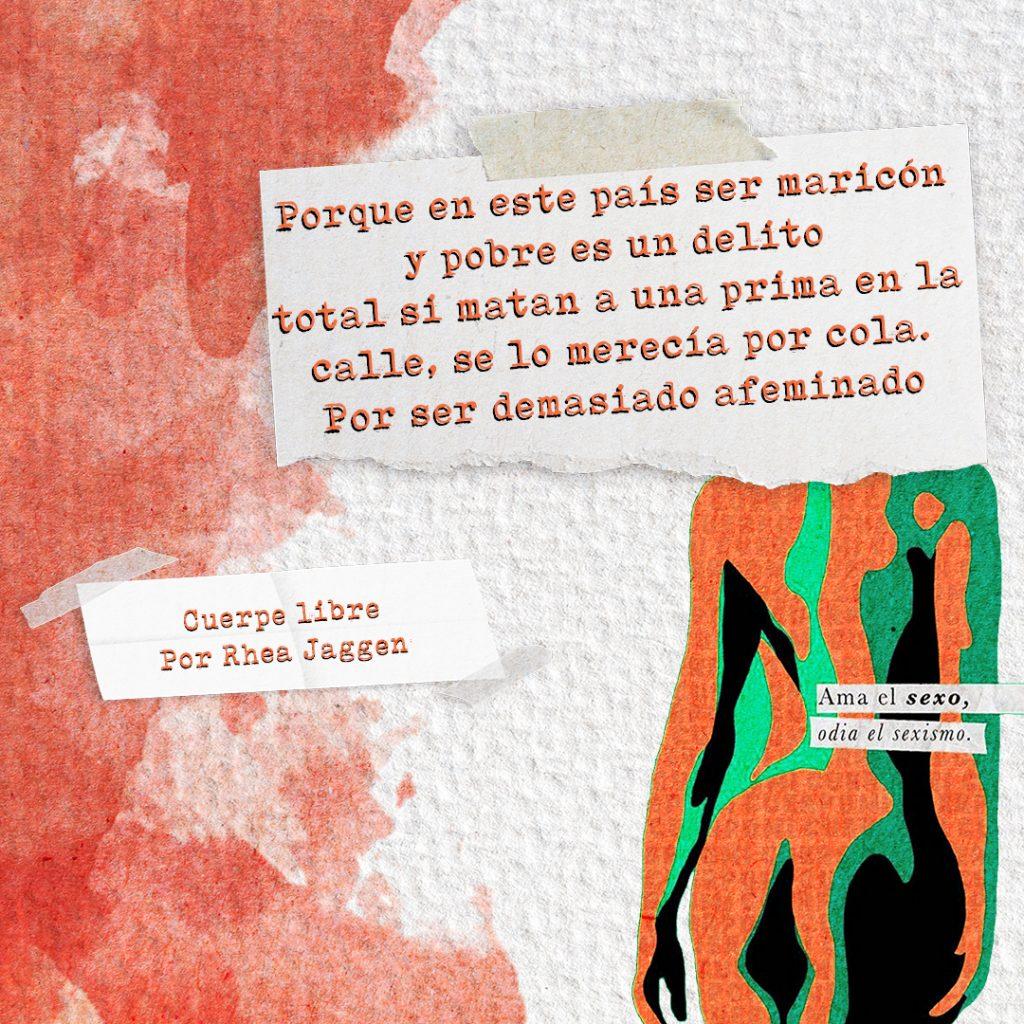 collage, fotografía y poesía, por la libertar sexual y del cuerpo