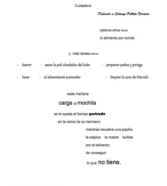 Poema Cuidadora leído en voces de mujeres por la SECH