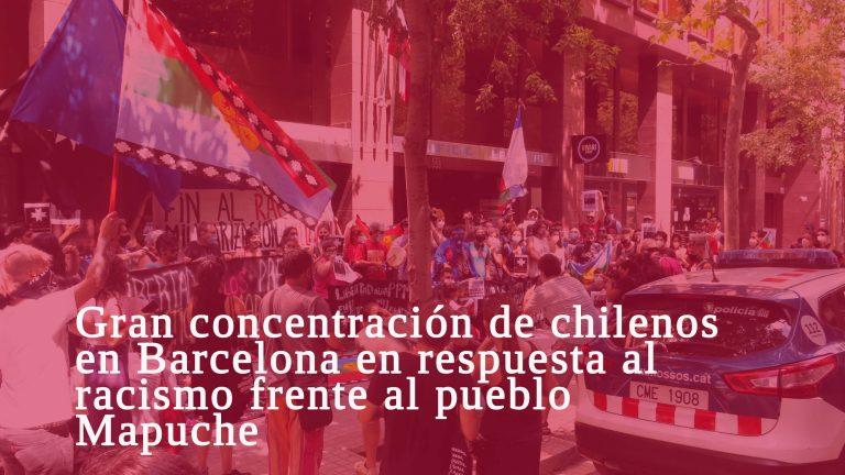 Manifestación contra el racismo Mapuche en Chile