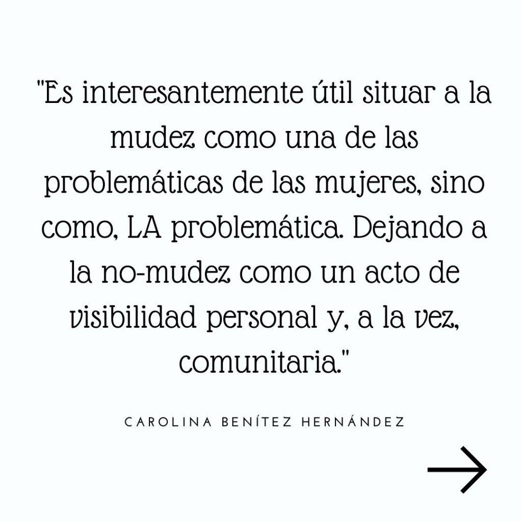 La Cimarra Feminista. Carolina Benítez Hernández