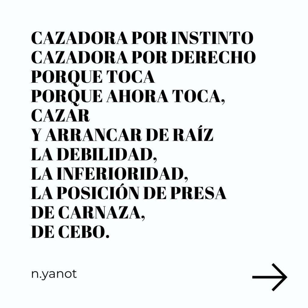 Cimarra Feminista. N.yanot